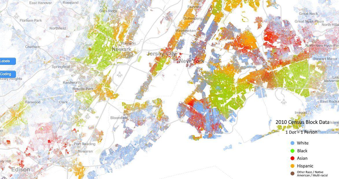 LOOK Amazing Map Shows Americas Segregation Problem - Us race map