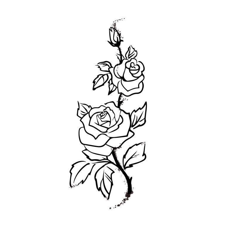 тату картинки распечатать эскизы роза свердловске