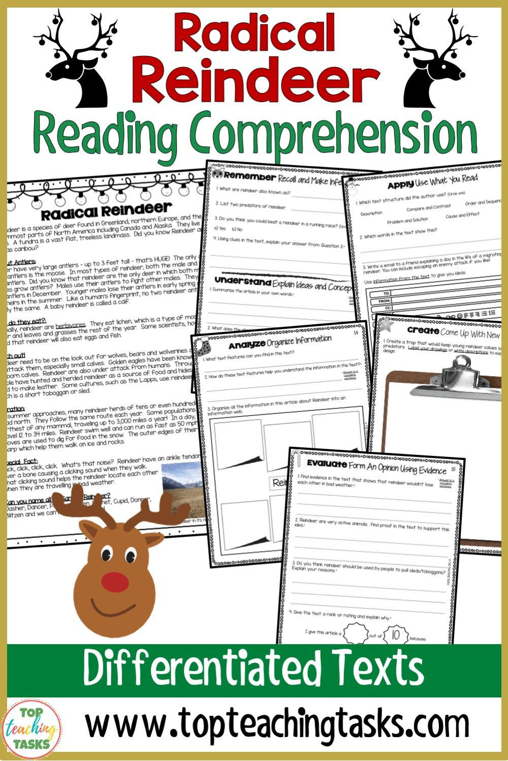 Christmas Reindeer Reading Comprehension Passage With Text Dependent Questions Top Teaching Tasks Reading Comprehension Reading Comprehension Passages Comprehension Passage [ 1497 x 1000 Pixel ]