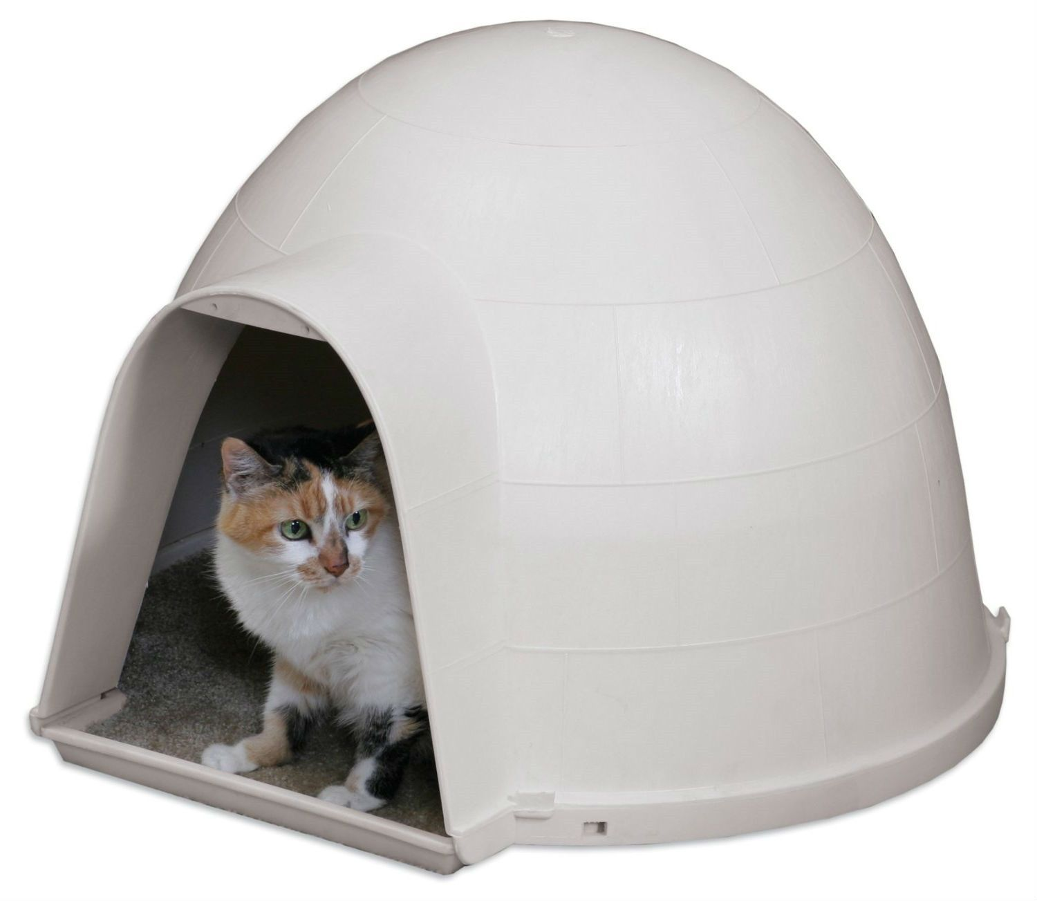Outdoor Kitty Cat Igloo With Carpeted Floor Cat Condo Outdoor