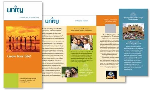 Branding Brochure Examples Unity Worldwide Ministries - services brochure
