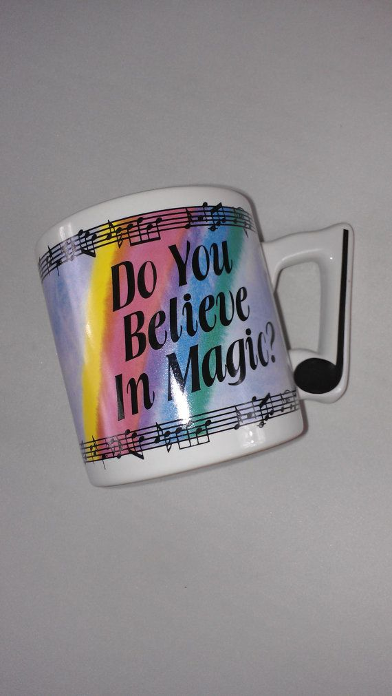 Do You Believe In Magic Music #Coffee Mug Cup Papel http://etsy.me/1XC8TAa #vintage #etsy #gifts #tbt #cyberweek