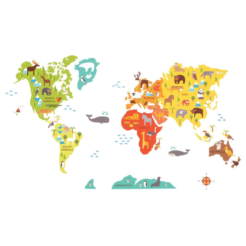 World map wall decals map fabric and fabrics world map sciox Gallery