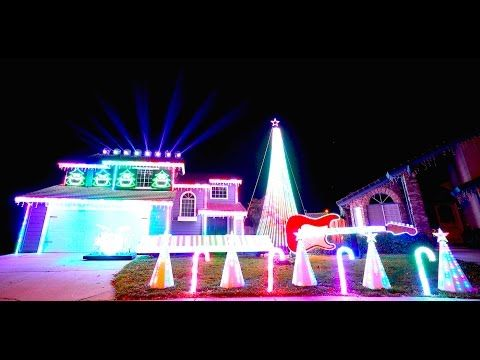 2015 Best of Star Wars Christmas Light Show, MUST SEE IN 4K