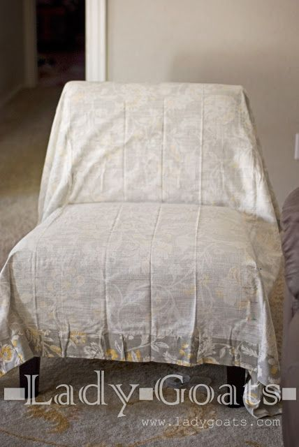 Lady Goats: DIY Slipper Chair Slipcover Without a Template ...