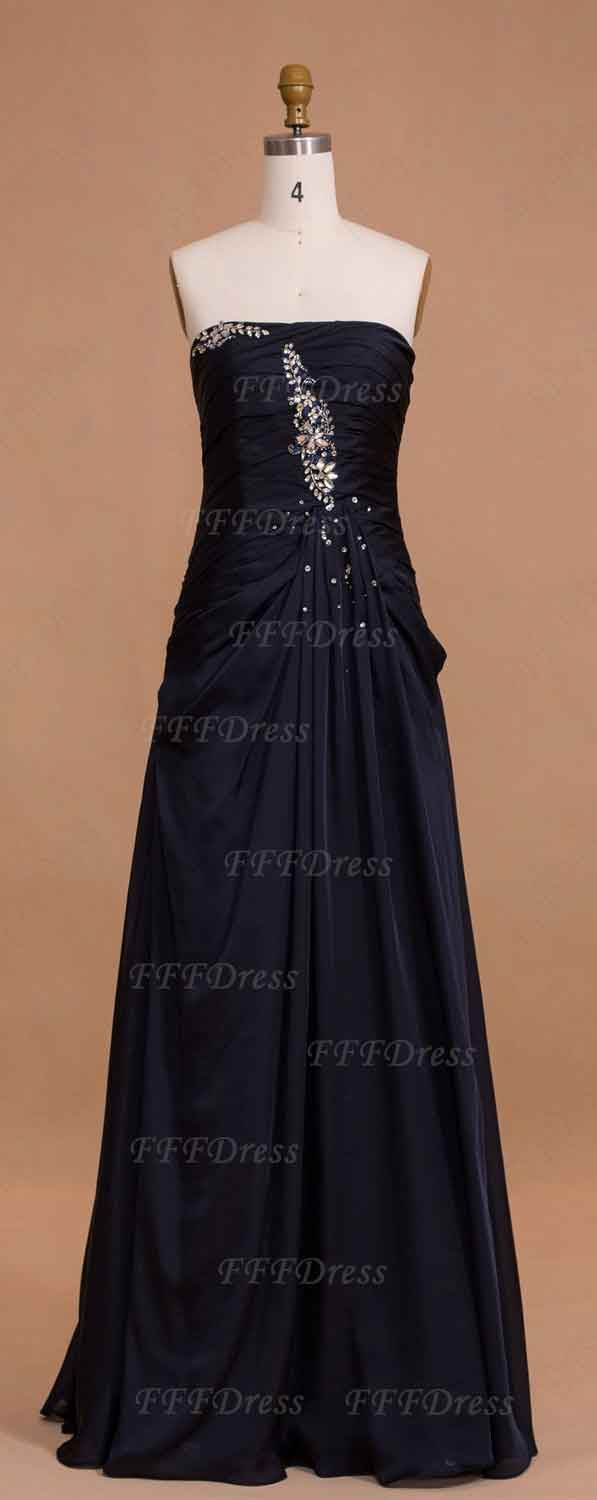 Midnight blue long bridesmaid dresses maid of honor dresses navy