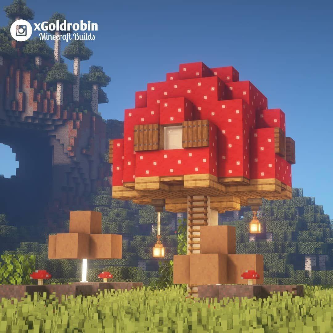 Goldrobin Minecraft Builder On Instagram Cute Little Mushroom
