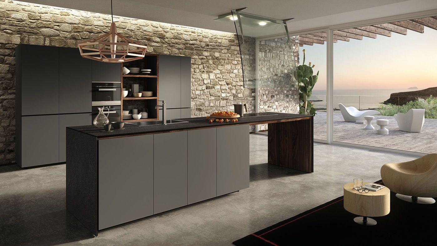 Cucina moderna / in quercia / in melamminico / in vetro FORMA MENTIS ...