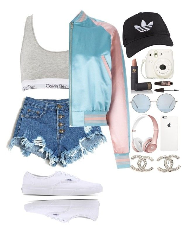 """""""Can't Whip Like Me✨"""" by cczbeauty ❤ liked on Polyvore featuring Calvin Klein, Vans, Alexander McQueen, adidas, Lipstick Queen, Maybelline and Chanel"""