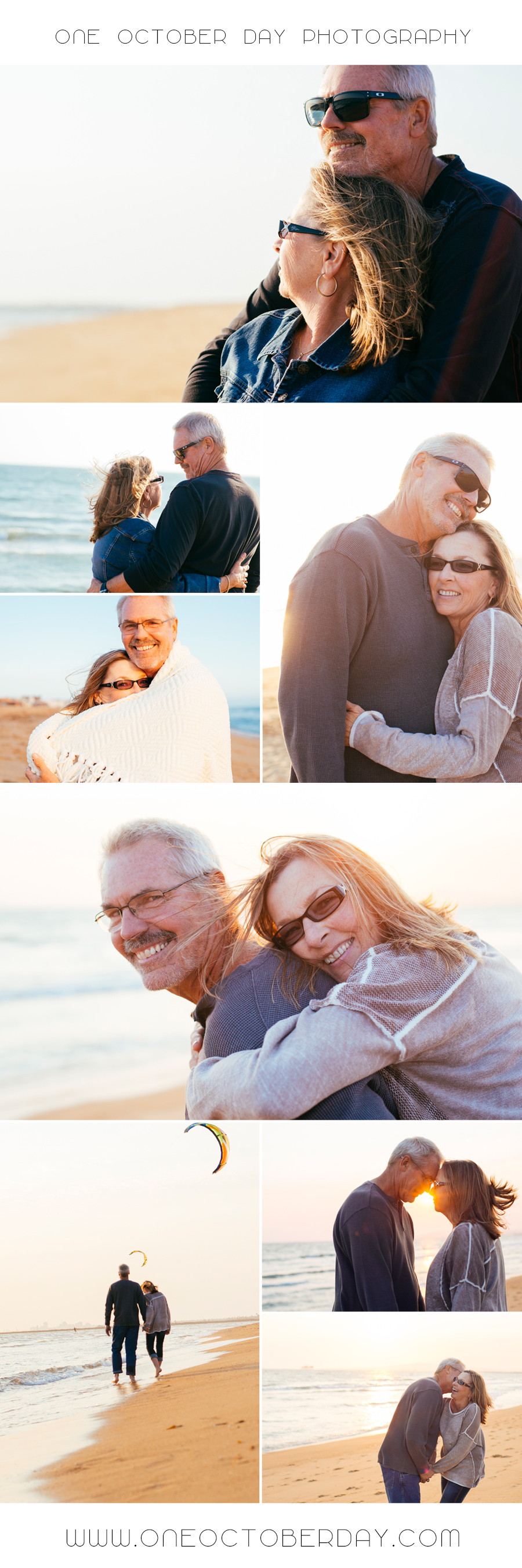 40th Anniversary beach photoshoot. Orange County Family
