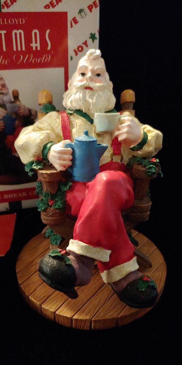 House of Lloyd 1996 Coffee Break Claus Incense Burner for
