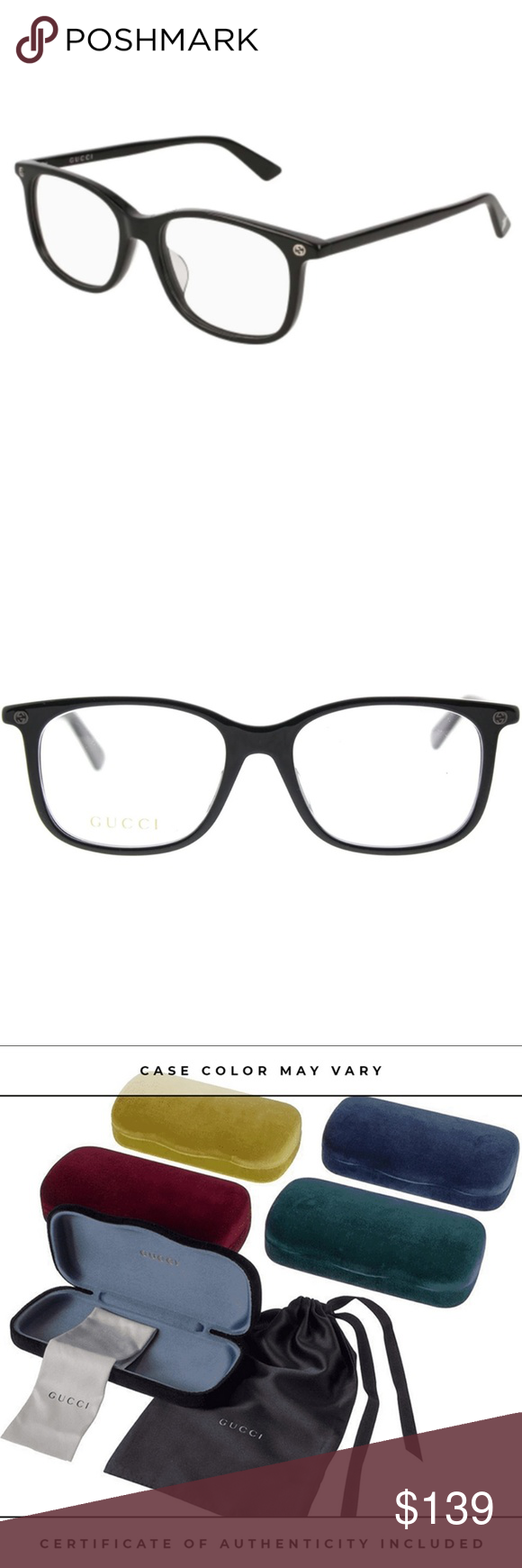 b9a7c1d61e51d Gucci Eyeglasses Black w Demo Lens Buy with confidence from an established  dealer since 2005