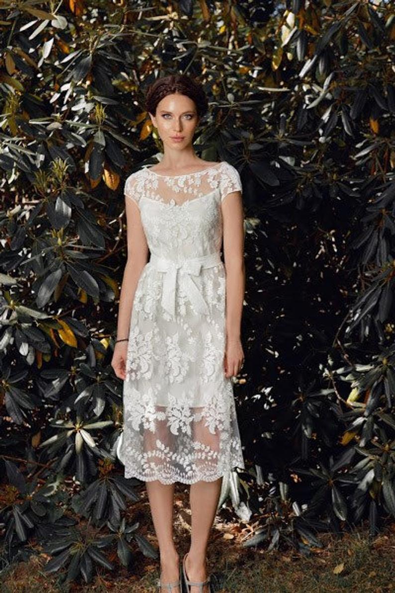 Short Boho Wedding Dress Simple Short Wedding Dress Ivory Etsy Simple Wedding Dress Short Wedding Dresses Simple Short Wedding Dress [ 1191 x 794 Pixel ]