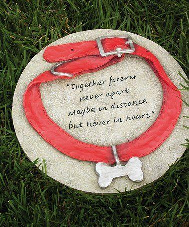 This dog collar garden stone is perfect zulilyfinds zulily dog this dog collar garden stone is perfect zulilyfinds workwithnaturefo