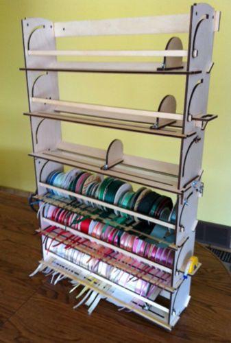 Ribbon Storage Rack Organizer Holder 80 Spools