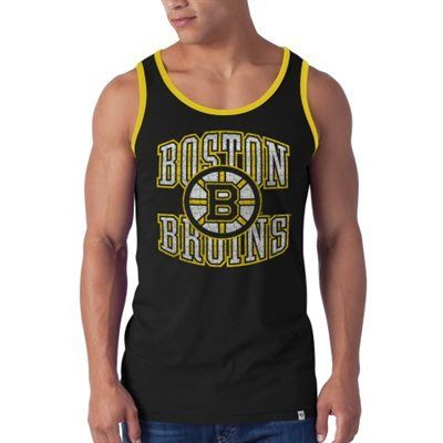hot sale online 91716 36bb1 Mens Boston Bruins '47 Brand Black Til Dawn Tank Top ...