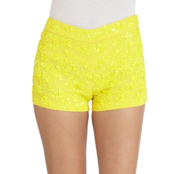 French Connection Mimosa Mist Sequined Shorts ($103) via Polyvore