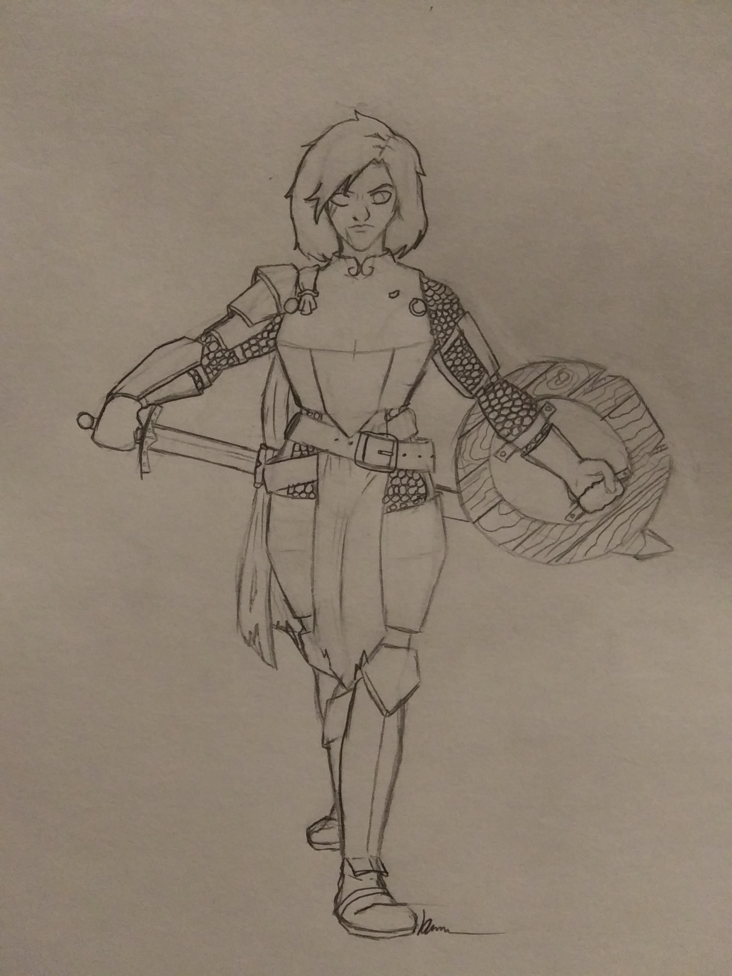 OC Lorakain Silverstone, a paladin seeking to live up to the family name. : characterdrawing ...