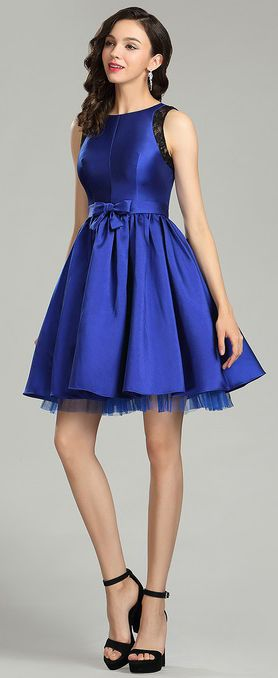 744fe6dc44cd Sweet Blue Cocktail and Party Dress for Christmas (04180505 ...