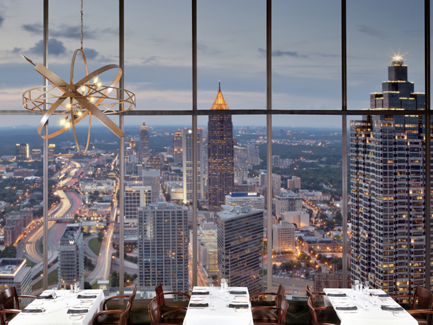 Atlanta Where To Eat Sun Dial Restaurant Bar And View Westin Peachtree Plaza
