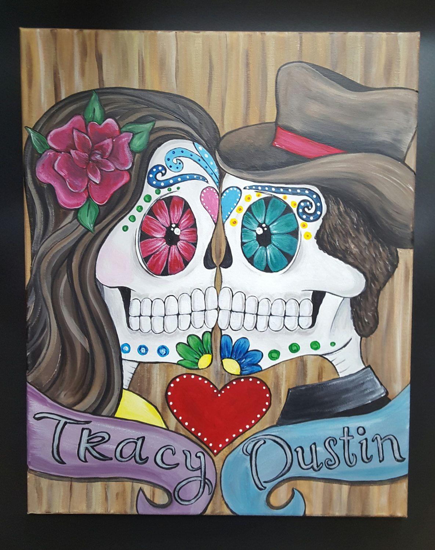 Sugar Skulls Skull Wedding Gifts Ideas Painting