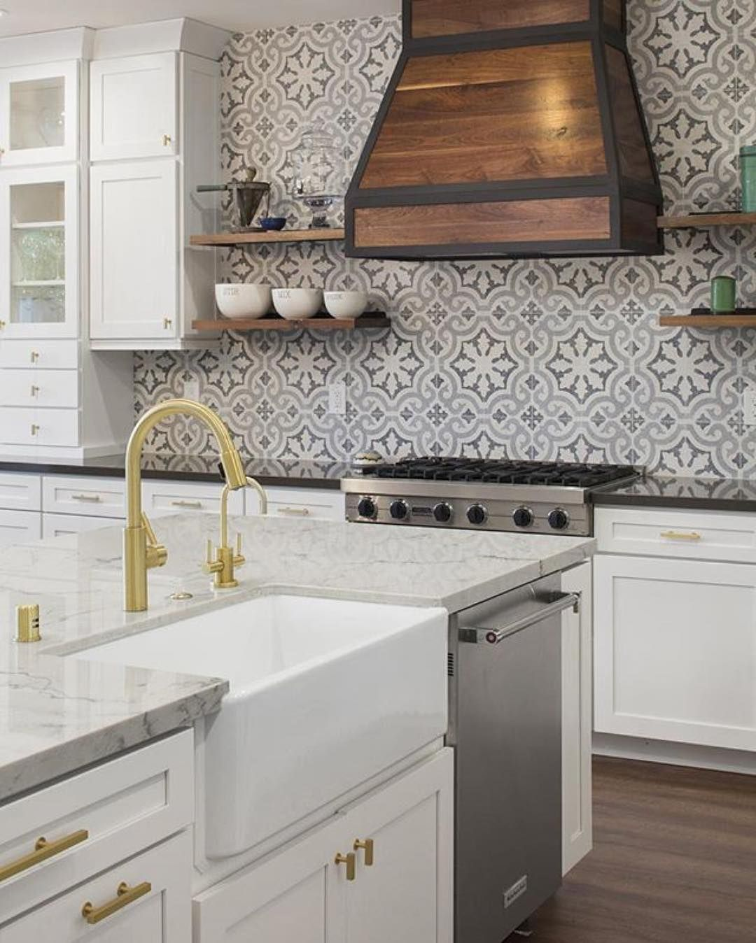 Photo Of Kitchen Tiles: Encaustic Cement Tile Kyra II Terrazzo