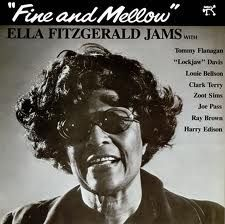 "Ella Fitzgerald Jams With Tommy Flanagan, ""Lockjaw"" Davis*, Louie Bellson*, Clark Terry, Zoot Sims, Joe Pass, Ray Brown, Harry Edison - Fine And Mellow (Vinyl, LP, Album) at Discogs"