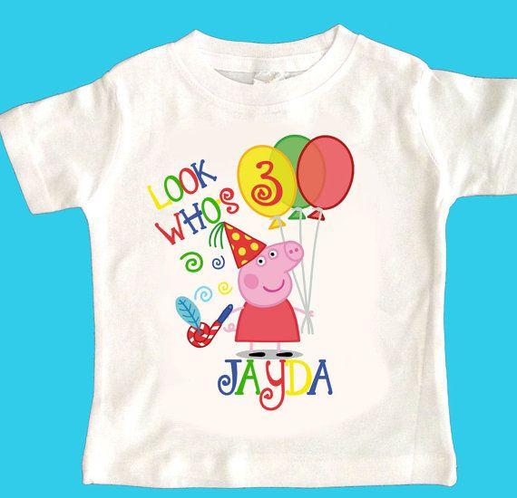 Peppa Pig 2A Any Name Age Birthday Tshirt Shirt By Maryahdesigns 1200