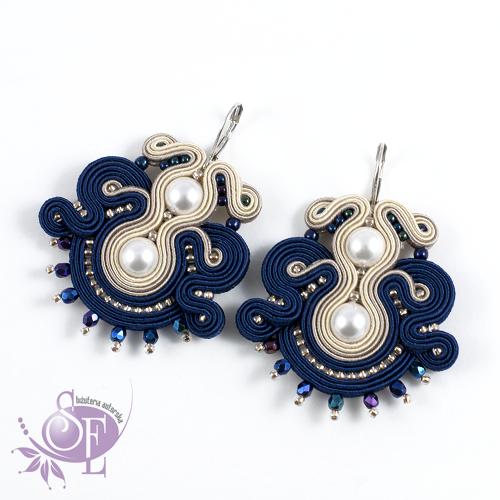 Szkatułka Emi: #171 Kolczyki sutasz perłami