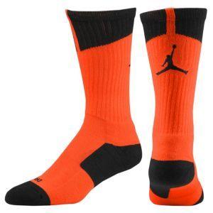 Jordan AJ Dri-Fit Crew Sock - Men's - electric green/black, team