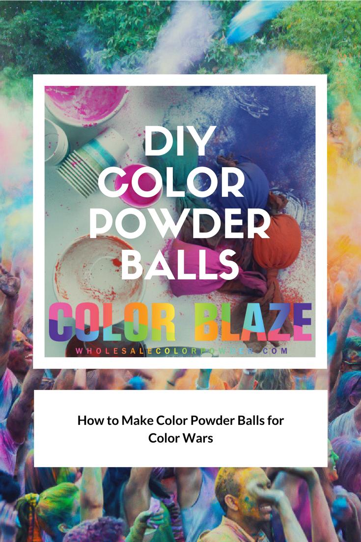 Color Party Fun How To Make Color Powder Balls Color
