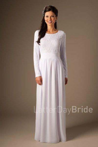 Hartford | LDS Temple Dress | Modest | LatterDayBride | SLC | UT ...