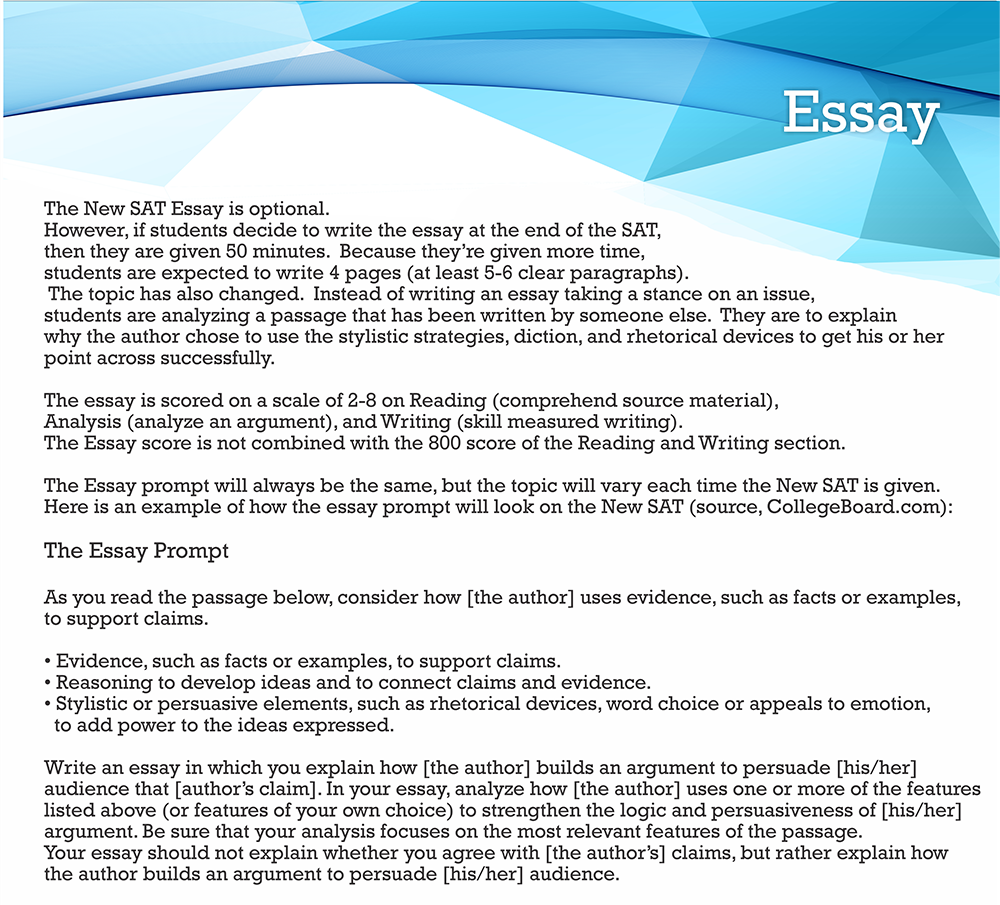 sat essay sample
