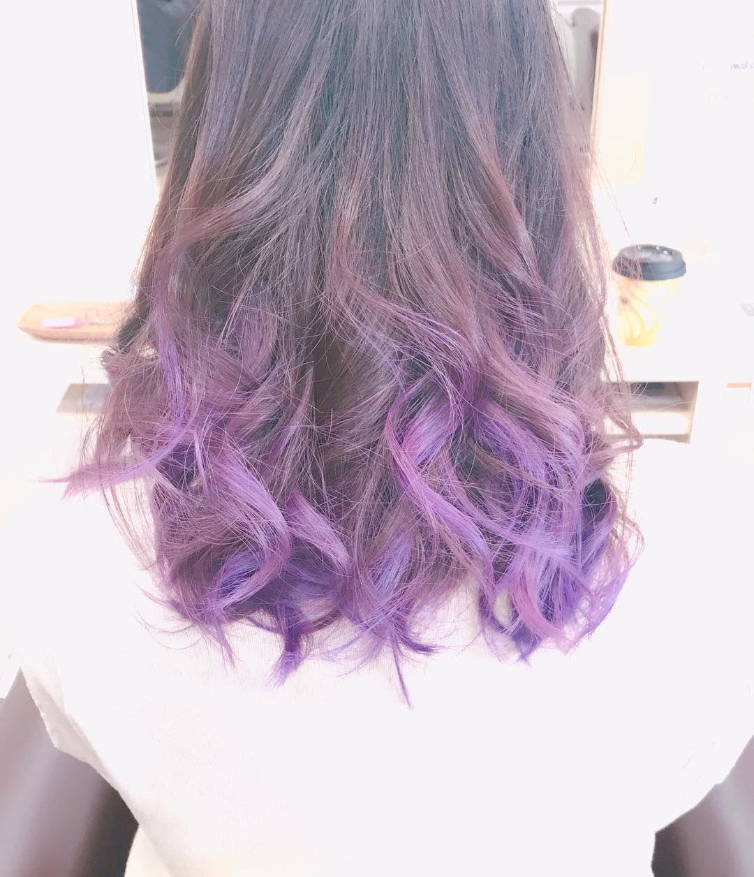 お客様color グラデーションに濃い目のパープルをいれました 紫は