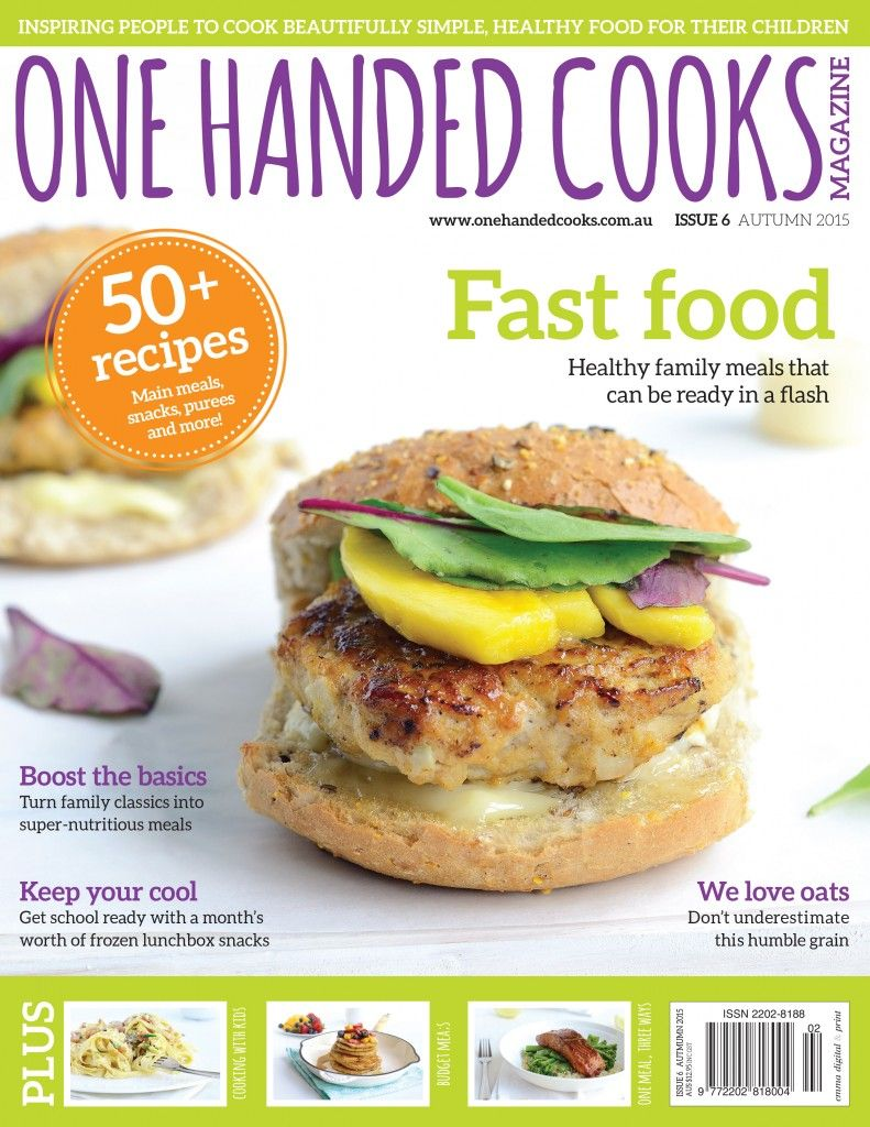 AUTUMN/BACK TO SCHOOL 2015 ISSUE available NOW Australia wide in all good Newsagents. Get your copy today. #onehandedcooks