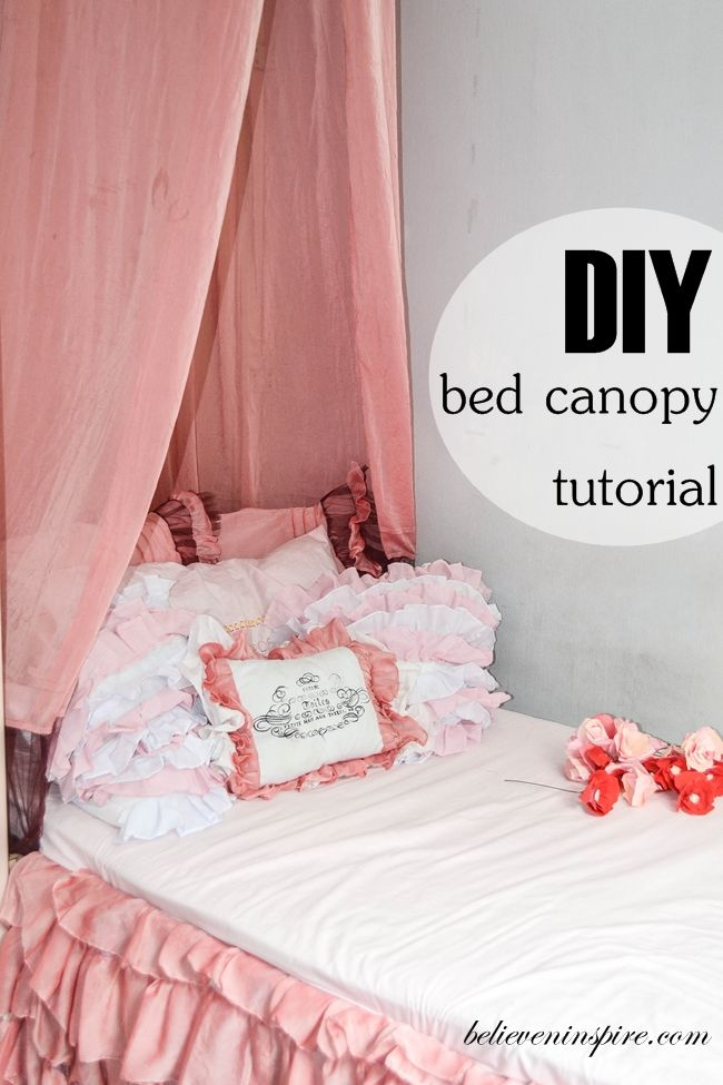 Diy Bed Canopy I Just Love Beds It Seems Like The Room Isn T Cozy Without A So Was Must For This Too