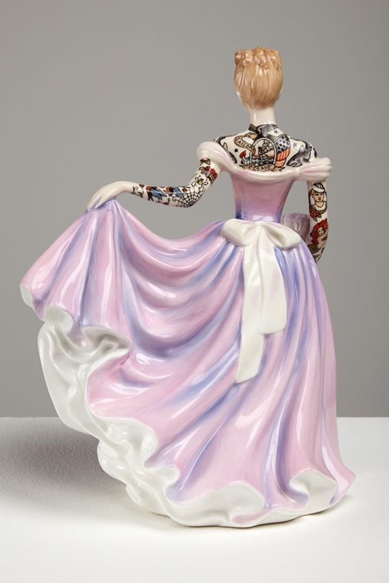 Jessica Harrison, Painted Lady 3, 2013, Found ceramic, enamel paint, 21 x 13 x 13cm  http://www.jessicaharrison.co.uk/