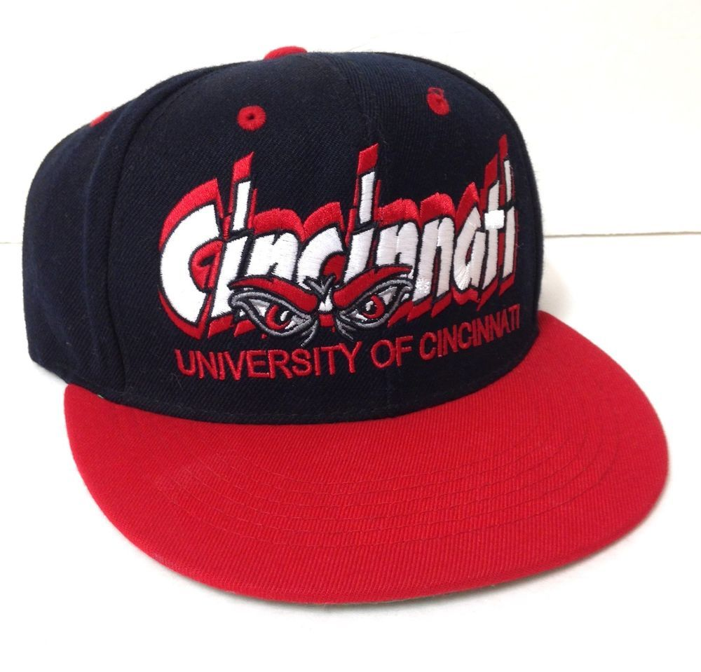 online store 11f9f bdc25 ... coupon vtg htf university of cincinnati bearcats snapback hat men women  red black uc topoftheworld cincinnatibearcats