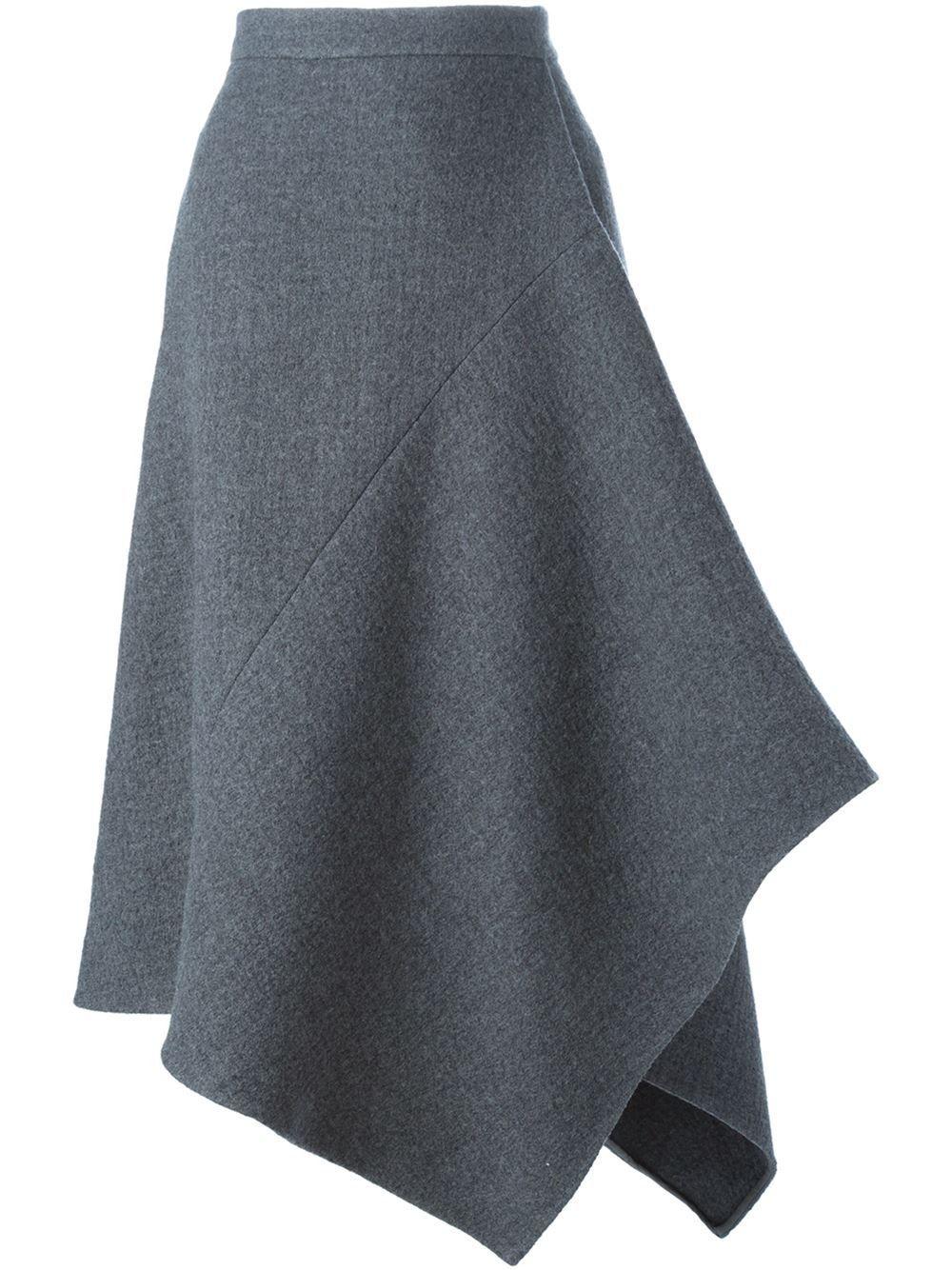 Ассиметричная юбка с выкройкой фото 425