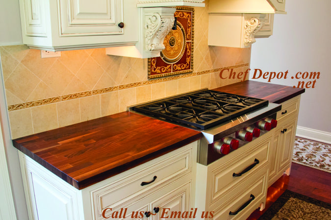 Edge Grain Blended Walnut Kitchen Counter Top Gorgeous Counters