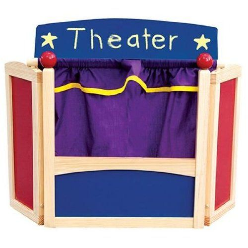 Guidecraft Center Stage Tabletop Puppet Theater Toy