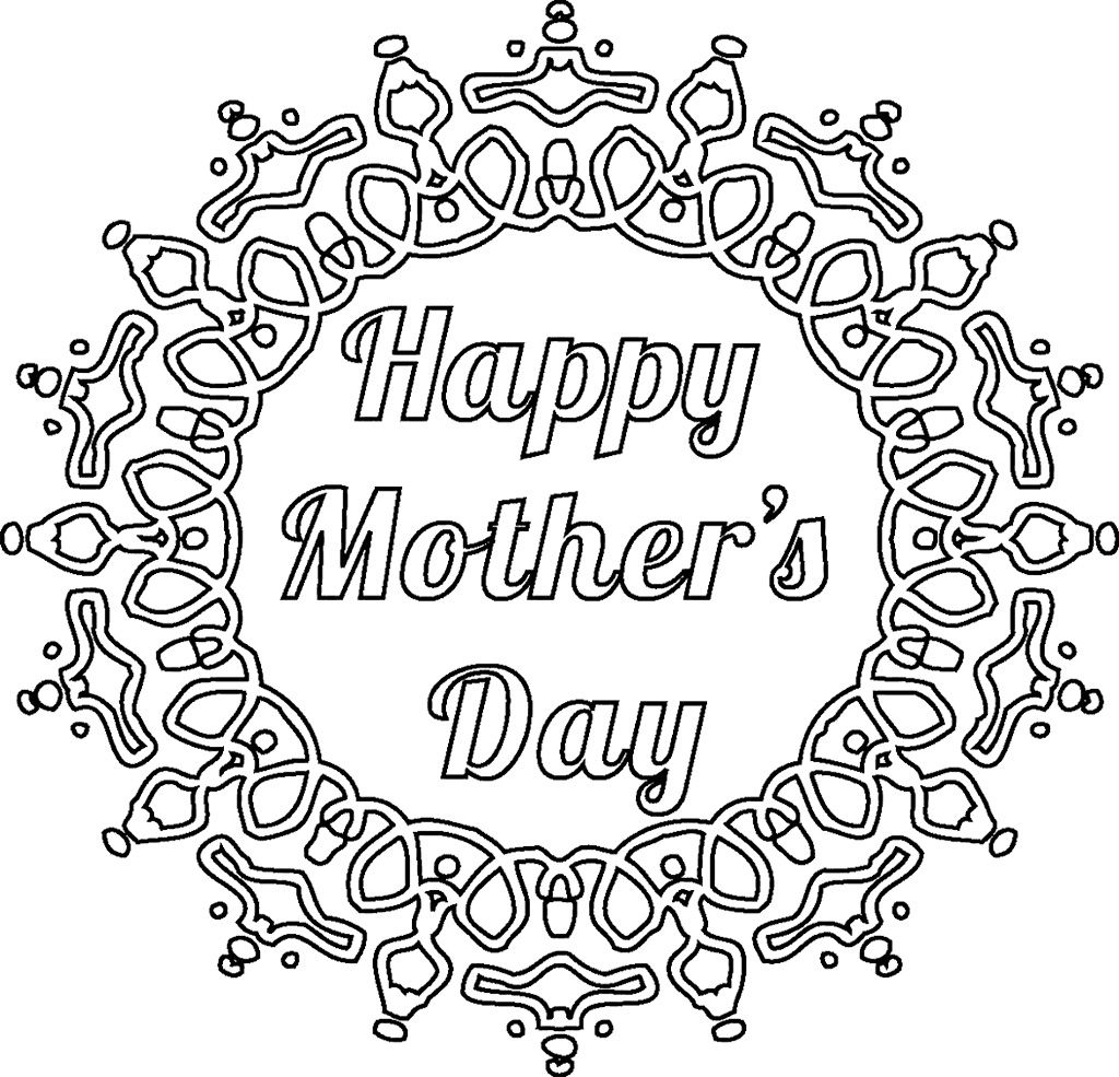 Mothers Day Coloring Pages Mandala Mothers Day Card Template