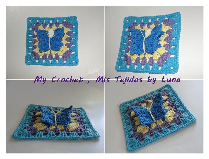 butterfly Granny SQUARE | square s | Pinterest | Puntos crochet ...