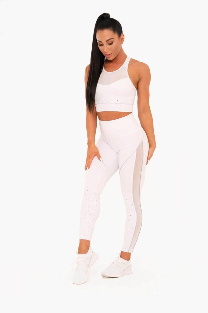 Venus Mesh Sports Bra White in 2020 White sports bra
