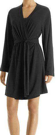 Calvin Klein Women s Mix Essentials Short Robe- 75.00 -It is so elegant.  Bridesmaid gift 3ab4d950b