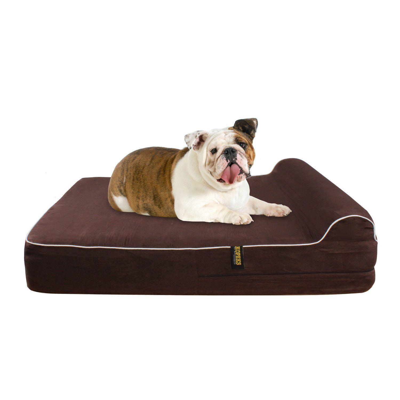 Orthopedic Waterproof Memory Foam Bed With Pillow Brown