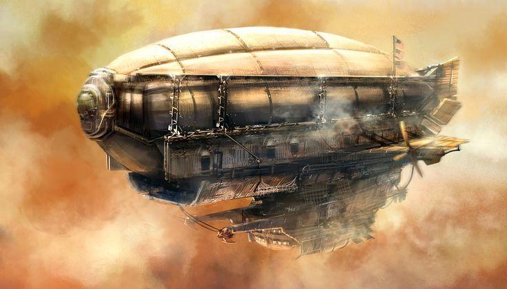 steampunk zeppelin - Google Search | Steampunk airship, Steampunk ship,  Steampunk art