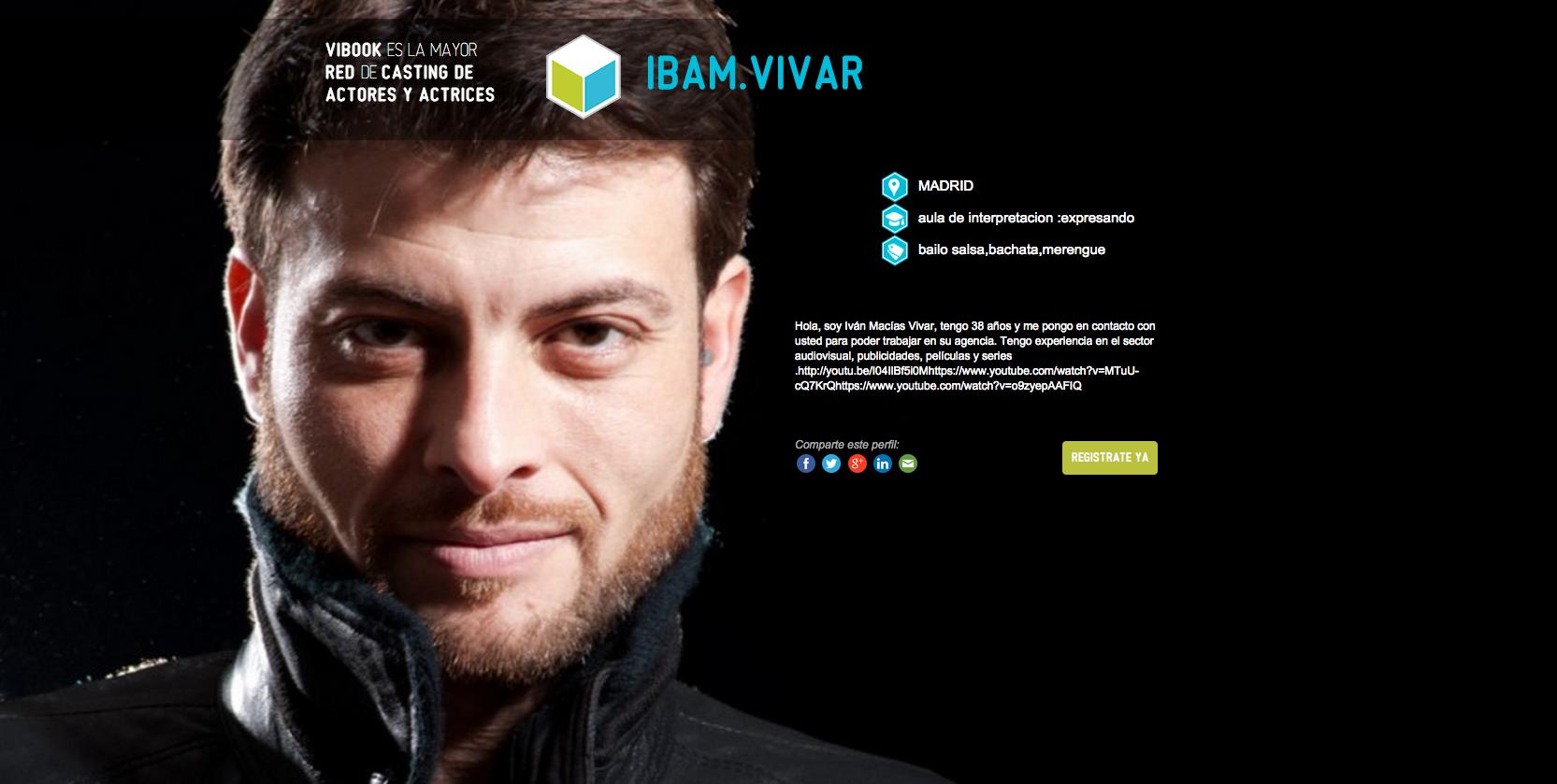 Actor IBAM VIVAR