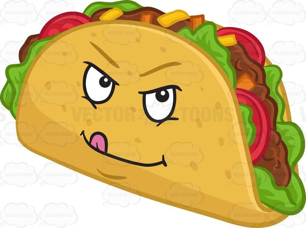 A Naughty Hard Shell Taco Snack Hard Shell Tacos Tacos Cartoon Clip Art