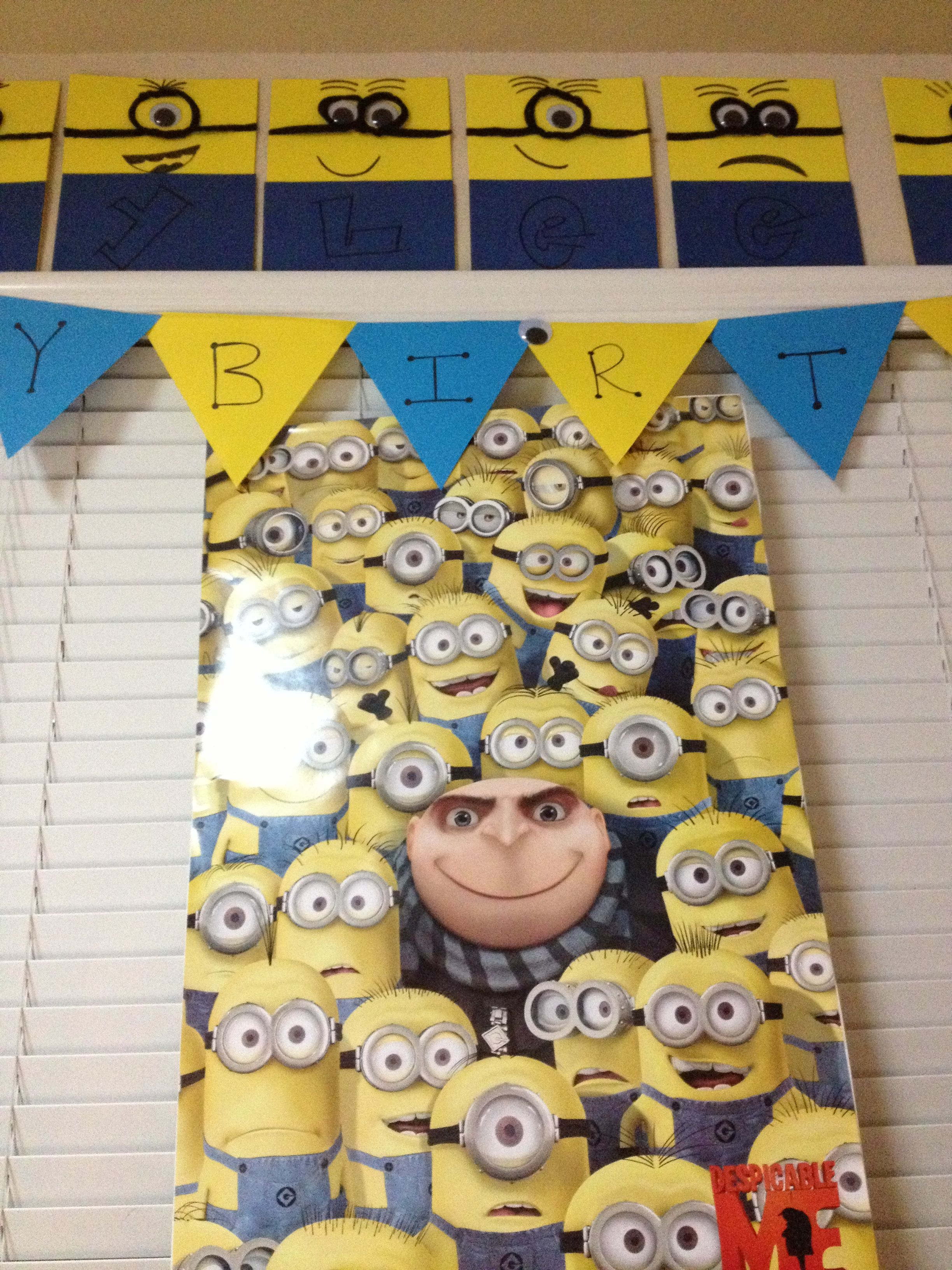 Minion decorations for Rylees birthday party Created by Me
